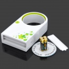 USB/4xAAA Powered Bladeless Fan - White + Green