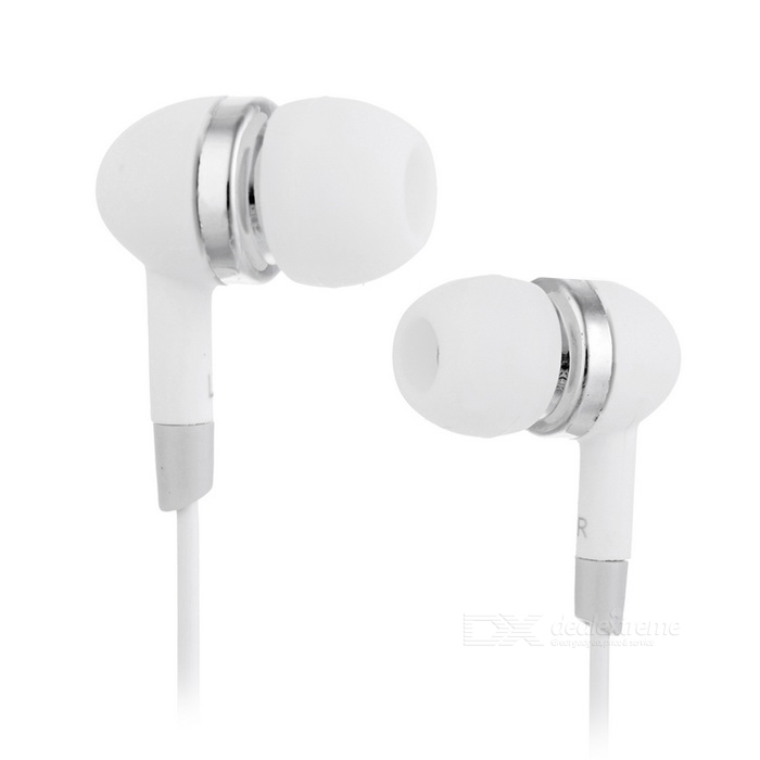 Stereo In-Ear Earphone - White (3.5mm-Plug / 118cm-Cable)