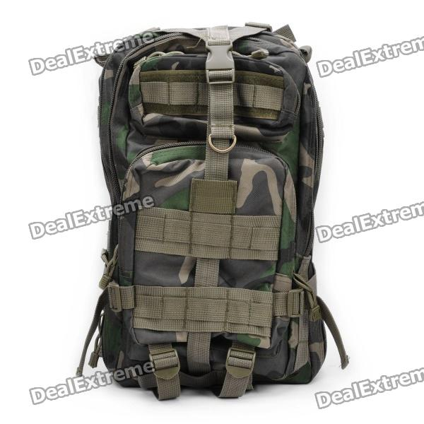 Multi-Function Outdoor Military War Game Oxford Fabric Backpack Bag - Camouflage Green