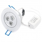 3W 3200K 100-Lumen 3-LED Warm White Light Ceiling Down Lamp w/ Driver (AC 220V)