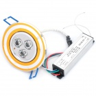 3W 3-LED Multi-Colored Light Ceiling Down Lamp w/ Driver (AC 220V)