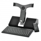 DOSS Docking Station Speaker with Bluetooth Keyboard Set for iPad / iPhone / iPod - Black + Silver