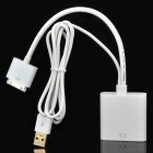 Apple 30 Pin Male to USB Male + HDMI Female Adapter Cable - White (90cm)