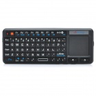 2.4GHz Mini Handheld 69-Key Wireless Keyboard w/ Touchpad - Black