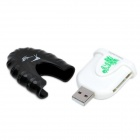 USB 2.0 TF / SD / MS / Mini SD Card Reader - Black + White (Max. 32GB)