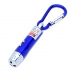 3-in-1 1mW Red Laser + White Light + Money Detector with Carabiner Clip - Blue (3 x AG13)