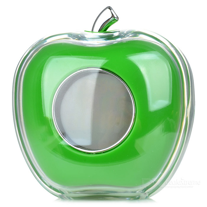Apple Shaped LED Alarm Clock with Digital Thermometer