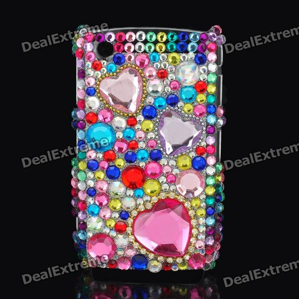 Decorative Colors Crystal Protective Back Case for Blackberry 8520 / 8530 skull pattern crystal protective back case for blackberry 8520 8530 black silver