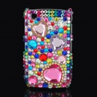 Decorative Colors Imitation Diamonds Protective Back Case for Blackberry 8520 / 8530