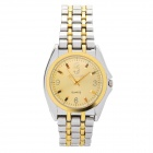 Stylish Stainless Steel Quartz Wrist Watch - Golden + Silver (1 x LR626)