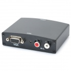 1080P VGA Video Audio L/R to HDMI Converter Adapter - Black