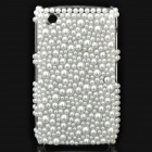Fashion Acrylic Diamond Protective Back Case for Blackberry 8520 / 8530 - White