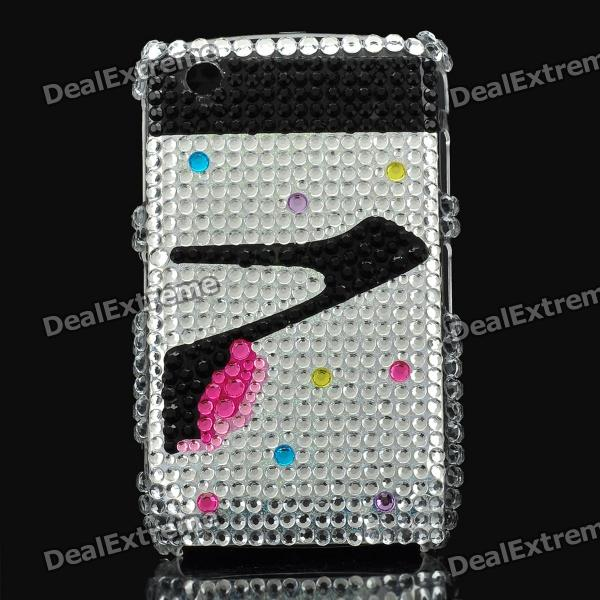 High-Heeled Shoes Pattern Crystal Protective Back Case for Blackberry 8520 / 8530 decorative colors crystal protective back case for blackberry 8520 8530