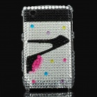 High-Heeled Shoes Pattern Crystal Protective Back Case for Blackberry 8520 / 8530