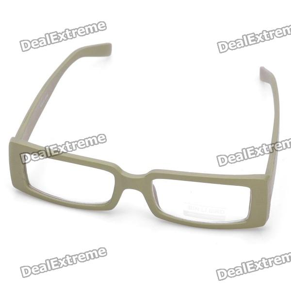 b2d9ac17419 Fashion Wooden Style Frame Square Lens Spectacles Eyeglass - Beige ...