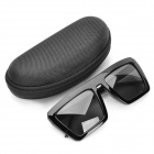 Fashion Trapezoidal Lens Sunglasses - Black