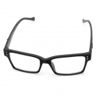 Fashion Wooden Style Frame Square Lens Spectacles Eyeglass - Black