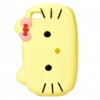 Nettes Hallo Kitty Stil Protective Case für iPhone Sponge 4S - Gelb