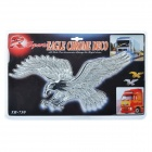 3D Eagle Style Car Decorative Sticker - Silver