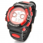 Sports Diving Wrist Watch w/ EL Backlit/Week/Stopwatch/Alarm Clock - Black + Red (1 x CR2016)