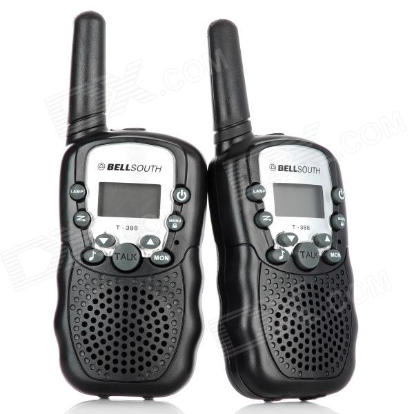 "Bellsouth T-388 0.5W 1,0"" LCD 5KM walkie talkie - svart (4 x AAA)"