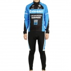 2011 Giant Team Long Sleeve Cycling Bicycle Bike Riding Suit Jersey + Bib Pants Set (Size-L)