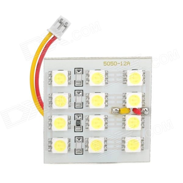 White SMD 3*4 12-LED Cabin/Dome/Door/Glove Box Light (12V)