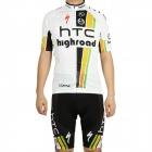 2011 HTC Highroad Team Short Sleeve Cycling Bicycle Riding Suit Jersey + Bib Shorts Set (Size-L)