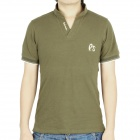 Fashion Short Sleeves Polo Shirt T-Shirt - Army Green (Size-L)
