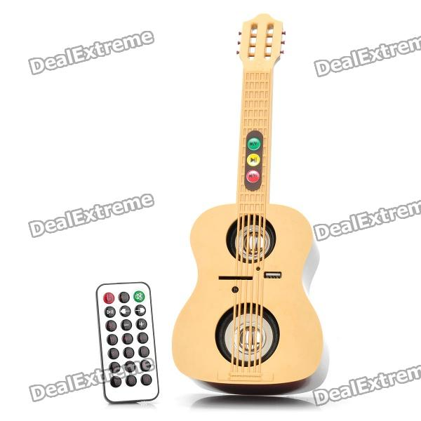 Mini Guitar Shaped Rechargeable Bluetooth V3.0 Wireless Music Speaker w/ FM / USB / SD от DX.com INT