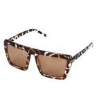 UV400 Protection Fashion PC Lens Sunglasses - Leopard Grain