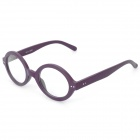 Fashion Wooden Style Frame Spectacles Eyeglass - Deep Purple