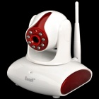 "EasyN 137P 1/4"" CMOS 300KP Security Surveillance IP Network Camera w/ WiFi / Night Vision - Red"