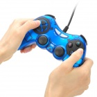 USB Wired Vibration Gaming Controller - Blue