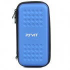 Protective PU Leather Hard Pouch Case w/ Carabiner Clip for PS Vita - Blue
