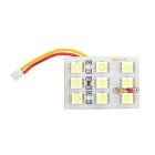 White SMD 3*3 9-LED Cabin/Dome/Door/Glove Box Light (12V)