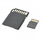 4GB Micro SD/TF Card with SD Card Adapter - Black