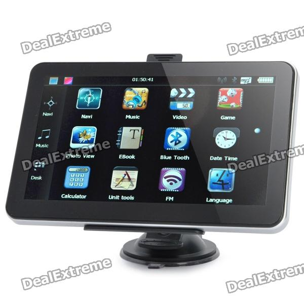 7.0 Resistive Screen Windows CE 6.0 GPS Navigator w/ TF / AV-in / FM - US + Canada + Mexico Map