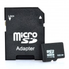 8GB Cartão Micro SD / TF com adaptador SD Card - Black (Classe 6)