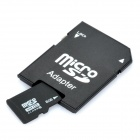 Micro SD / TF Card with SD Card Adapter - Black (8GB / Class 6)