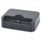 Portable Charging Dock Cradle with Silicone Pad for Samsung i9100 - Black