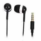 Stylish Earphone with Microphone - Black (3.5mm Jack / 127cm-Length)