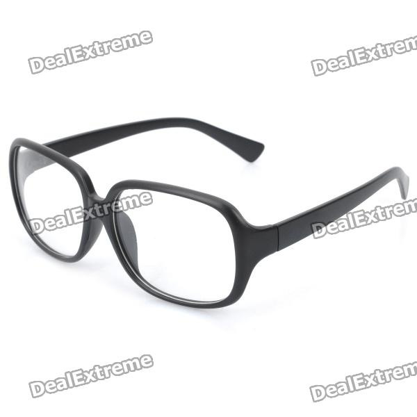 Big Frame Spectacles Eyeglass - Black