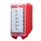 Rechargeable Safety Bicycle Bike 3-Mode 6-LED Blue/Red Warning Tail Light w/ 2 Red Laser - Red
