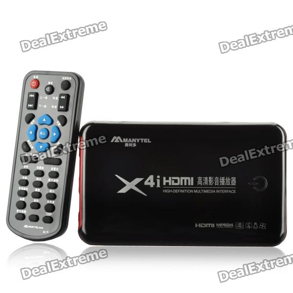 MANYTEL X4I HD 1080P Media Player w/ Remote Controller / USB Host / HDMI / AV