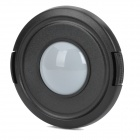 62mm Camera White Balance Lens Cap Cover - Black + White