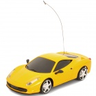 40MHz 2-CH R/C Racing Car w/ Remote Control - Yellow (3 x AA / 2 x AA)