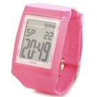 Sports Diving Digit Wrist Watch w/ Stopwatch / Alarm - Pink (1 x CR2025)