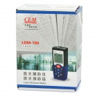 "LDM-100 1.6"" LCD Red Laser Distance Meter - Blue + Grey (2 x AAA)"