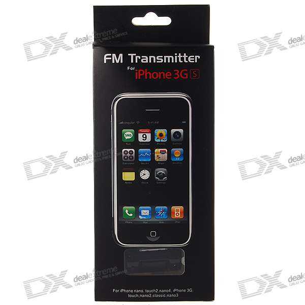 FM Transmitter with LCD Display for iPhone/iPhone 3G/3GS (Full RM Radio Range)